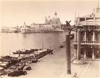 blick über den canale grande auf santa maria della salute by carlo naya