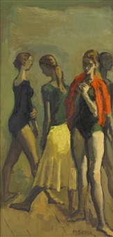 ballerinas by moses soyer