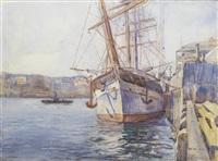 sydney harbour by john william (sir) ashton