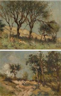 dans les dunes (+ chemin creux, smllr; 2 works) by georges fichefet