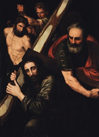 le christ sur la route du calvaire by michiel coxie the elder