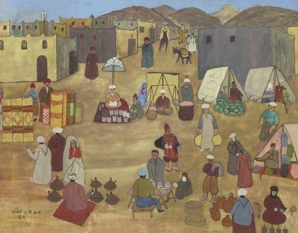 scéne de marché by moulay ali alaoui