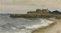 grosse mer à sainte-adresse by jean-baptiste-camille corot