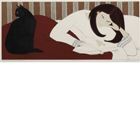 the reader (ona when young) by will barnet