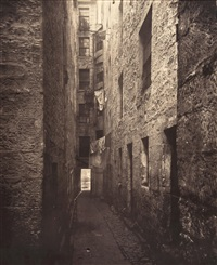 close no. 148, high street, 1868 (plate 5, old closes and streets of glasgow) by thomas annan