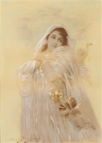 untitled - portrait of a lady by edouard bisson