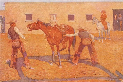 coming to the call by frederic remington