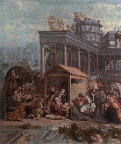 the adoration of the magi by jan swart van groningen