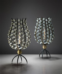 pair of 'perles' candle holders by andré dubreuil