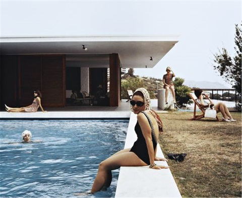 girls at the pool (still from the rape of the sabine women) by eve sussman