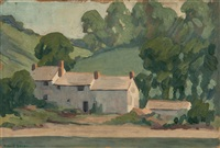 farm buildings, luppitt common by robert polhill bevan