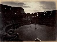 le colisée, effet de clair de lune, rome by pompeo molins and gioacchino altobelli