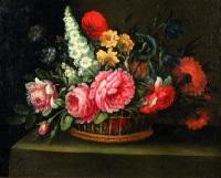 fleurs dans une corbeille by french school (18)
