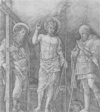 the risen christ between st. andrew and longinus by giovanni antonio da brescia