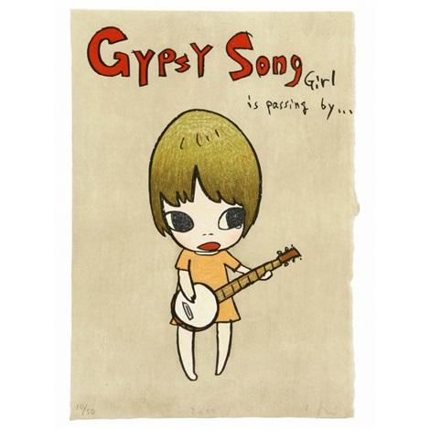 gypsy song girl is passing by by yoshitomo nara