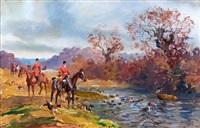 cerf bât l'eau by karl andré jean (baron) reille