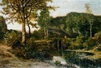 bord de rivière by hector louis allemand