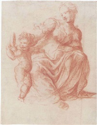 mother and child by michelangelo anselmi