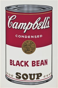 black bean soup (from campbell's soupⅰ) by andy warhol