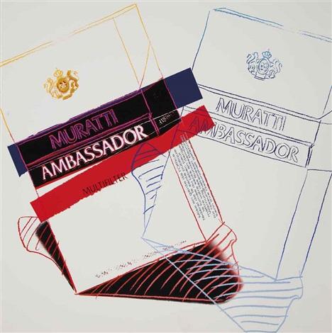 muratti ambassador cigarettes by andy warhol