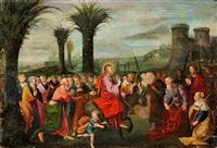 jésus rentrant dans jerusalem by cornelis de baellieur the younger
