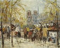 paris, les bouquinistes près de notre-dame by merio ameglio