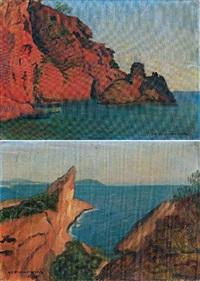 bord de mer rocheux i (+ bord de mer rocheux ii; pair) by alexandre joseph alexandrovitch