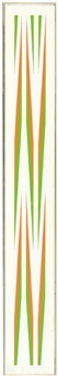 study orange, violet and green twists in different proportions 1970 by bridget riley