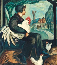 the pet rooster by rody kenny courtice