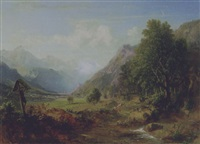 landschaft (südtirol?) by karl ludwig lincke