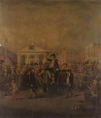 the covent garden morning frolick by louis-philippe boitard
