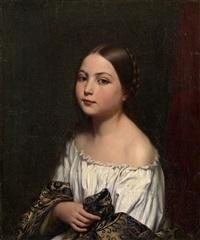 portrait of a girl by evgraf reitern