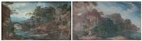 paire de paysages classiques (2 works) by pierre antoine patel