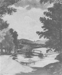 la paserelle du ternin by louis charlot
