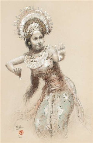 balinese legong dancer 2 works by lee man fong