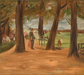 biergarten restaurationsgarten by max liebermann
