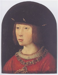 portrait of philip the fair by master of the magdalen legend