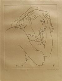 pensive girl by louis kahan