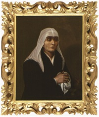 portrait de femme âgée tenant un chapelet by sofonisba anguissola