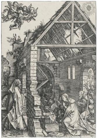 the nativity (from the life of the virgin) by albrecht dürer