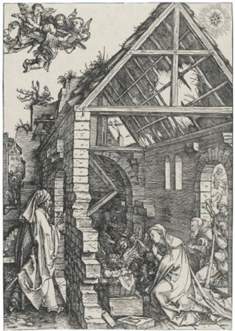 the nativity from the life of the virgin by albrecht dürer