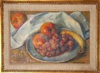 a plate of fruit by robert brackman