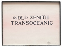 for old zenith transoceanic by edward kienholz