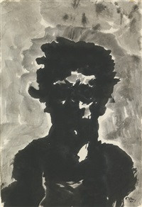 head of a man by mark tobey
