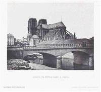 abside de notre-dame, le pavillon de l'horloge au louvre, porche de saint-germain l'auxerrois (6 works) by francois alphonse fortier