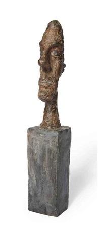 tête sans crâne by alberto giacometti