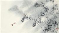 竹林双鸟 by lin hukui