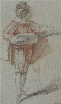 a mandolin player by michel barthelemy olivier