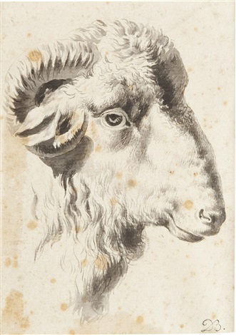 a head of a ram by jean jacques de boissieu