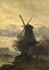 along a dutch river by johan conrad greive